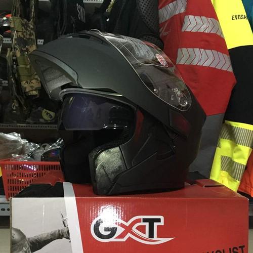 Nón bảo hiểm GXT Lật hàm 2017 Đen