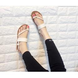 Giày sandal xỏ ngón 282 | giày sandal nữ đế bệt