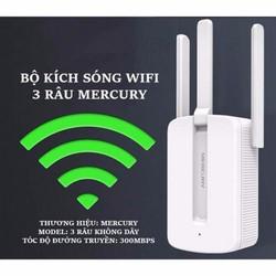 Bộ Kích Sóng Wifi Mercury Repeater 3 Râu
