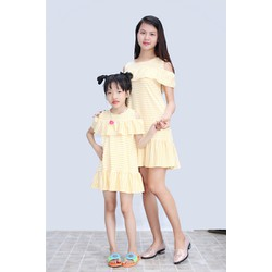 Đầm suông đuôi vá cho mẹ và bé