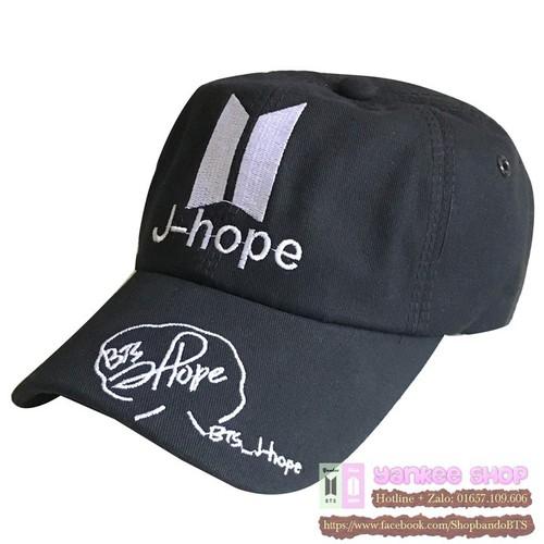 Nón bts j-hope - mũ thêu tên và chữ ký - vải dày đẹp