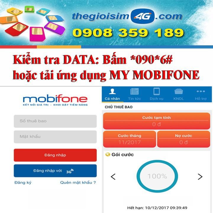 SIM 4G MOBIFONE TẶNG 150GB/THÁNG - TGS4G-150GB - 59K/Sim - 4
