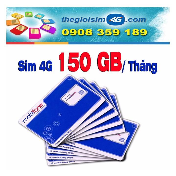 SIM 4G MOBIFONE TẶNG 150GB/THÁNG - TGS4G-150GB - 59K/Sim