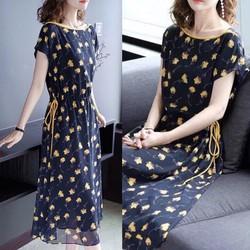 Đầm Suông Voan Hoa Nhí Trẻ Trung Hàng Nhập ANN558