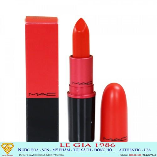 Son MAC Lady Danger bản Limited - Cam Đỏ - Hàng Chính Hãng