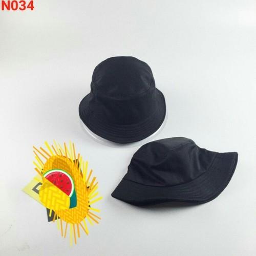 nón bánh bèo nón vải  nón đen trơn nón thời trang nam nữ