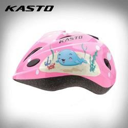 Nón bảo hiểm thể thao trẻ em Kasto hình cá _ màu hồng