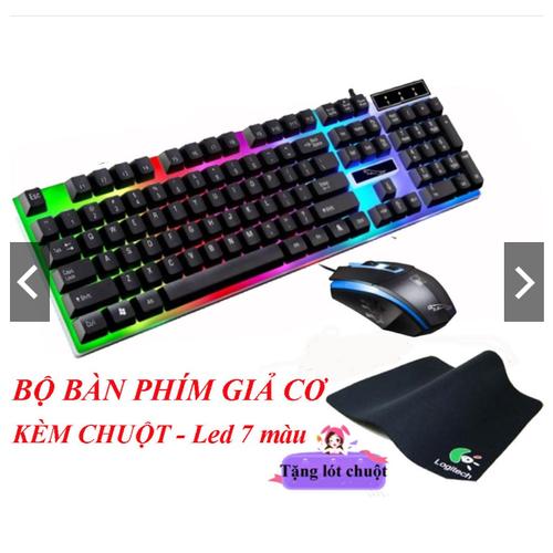 Bộ Bàn Phím Và Chuột  Chuyên Game LED Đa Màu  TẶNG LÓT CHUỘT