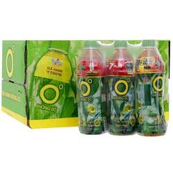 Thùng Nước giải khát trà xanh 0 độ hương Chanh 500ml-24 chai