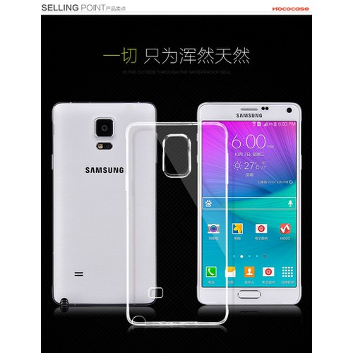 Ốp lưng Samsung Galaxy Note 4 dẻo, trong suốt