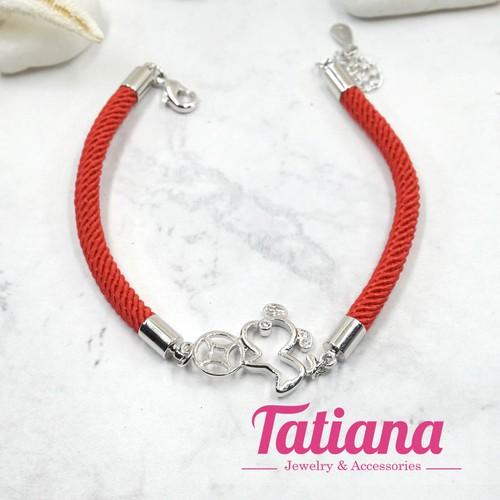 Vòng Tay May Mắn Puppy ngậm Xu - Tatiana - VB2304 - Bạc