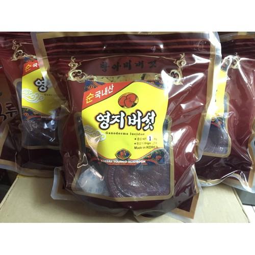 Nấm linh chi đỏ túi nâu Hàn Quốc 1kg mặt bóng