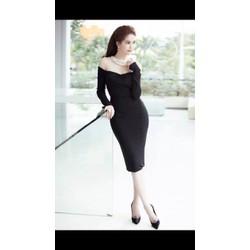 Đầm body đen tay dài  Ngọc Trinh 1832