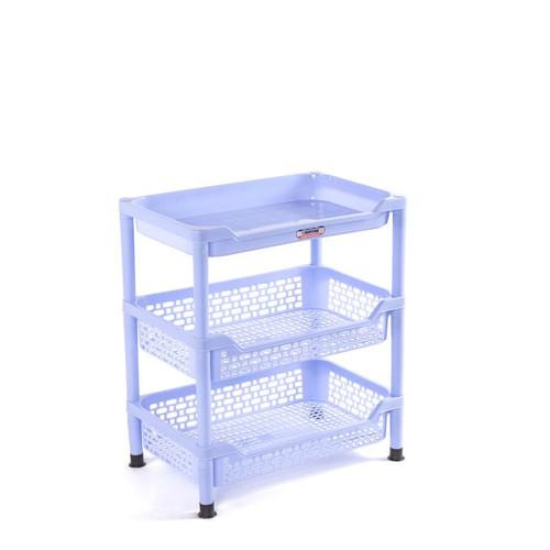 Kệ chén trung  nhựa Duy Tân - 3  Ngăn màu xanh dương
