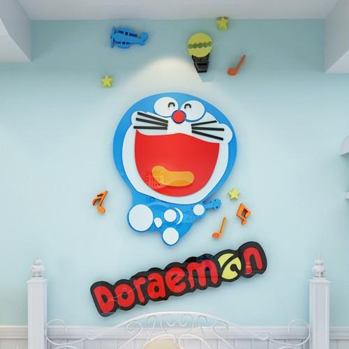 Tranh mica dán tường 3D - Doreamon