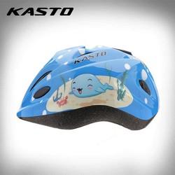 Nón bảo hiểm thể thao trẻ em Kasto hình cá _ màu xanh