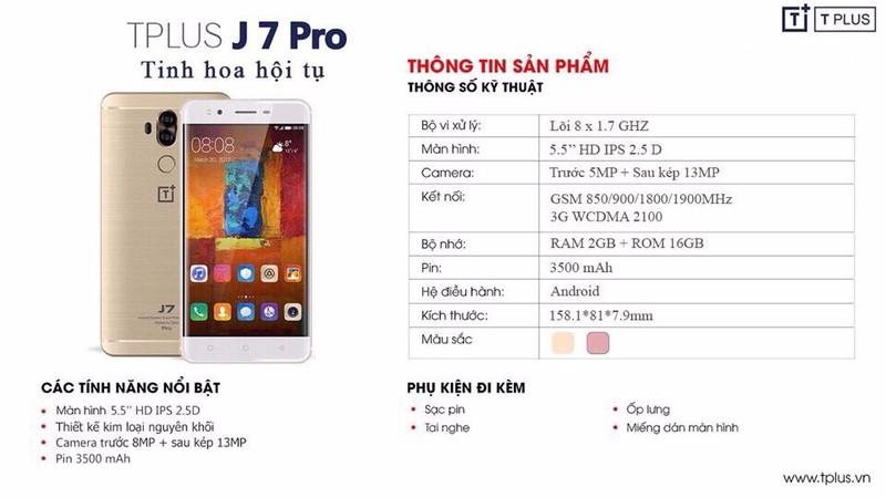 Điện thoại TPLUS J7 Pro chính hãng - Tinh hoa hội tụ 1