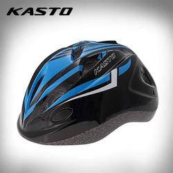 Nón bảo hiểm thể thao trẻ em Kasto _ đen - xanh