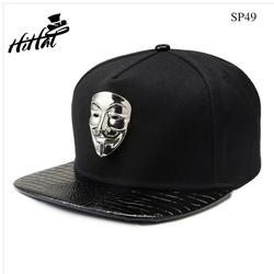nón hiphop Anymous ngầu chất, mũ snapback đen đẹp
