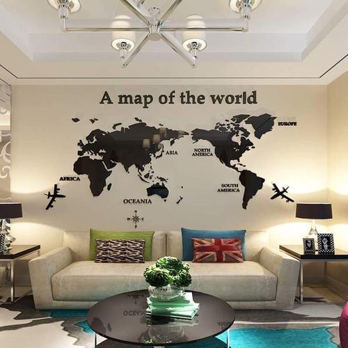 Tranh mica dán tường 3D - Bản đồ thế giới - 11109721 , 10244691 , 15_10244691 , 450000 , Tranh-mica-dan-tuong-3D-Ban-do-the-gioi-15_10244691 , sendo.vn , Tranh mica dán tường 3D - Bản đồ thế giới