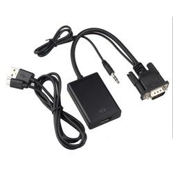 Cáp VGA to HDMI kết nối máy tính với TV, Máy chiếu