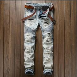 quần jean nam rách cao cấp zice 30 32