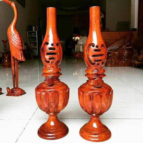 cặp đèn gỗ huơng cao 40 cm