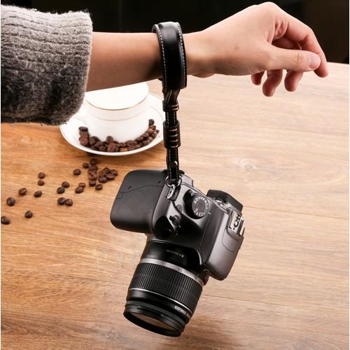 Dây đeo máy ảnh cổ tay da bò