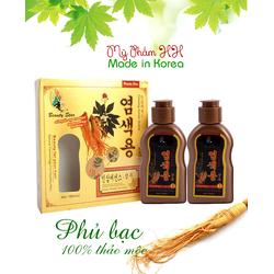 Dầu gội đen tóc chiết xuất từ nhân sâm của Hàn Quốc
