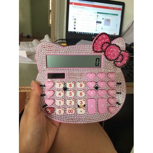 Máy tính Hello Kitty đính đá