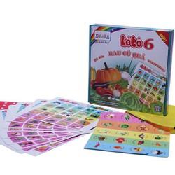 Đồ chơi truyền thống Lô Tô dành cho bé tìm hiểu về rau củ quả