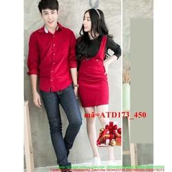 Set áo váy cặp đôi yếm xinh yêu thương ATD173
