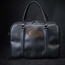 Túi xách nam, cặp da, túi đựng laptop thời trang ST5 Black