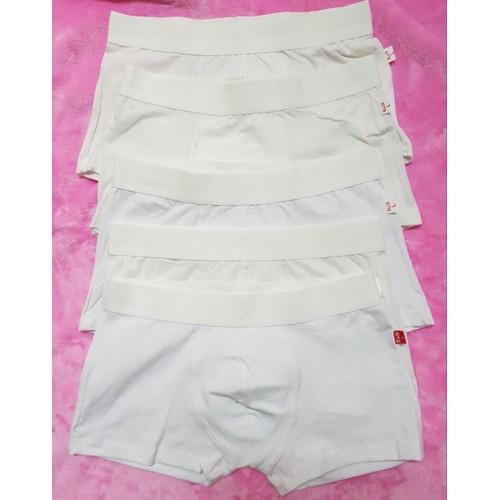 Bộ 5 quần boxer nam - trắng tinh