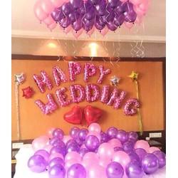 Set Bóng trang trí phong cưới - chat với Shop để chọn màu