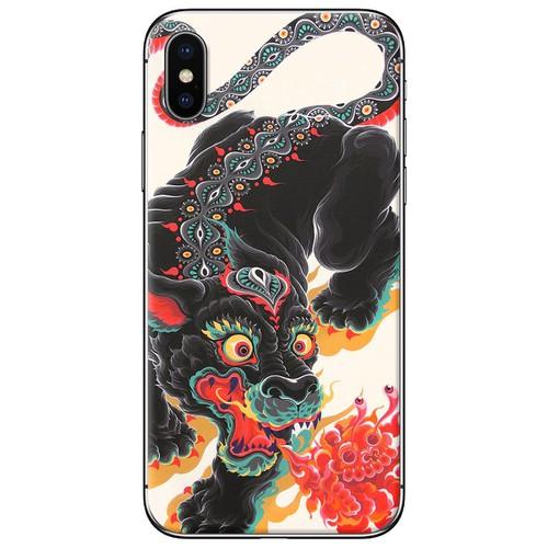 Ốp lưng nhựa dẻo iPhone X Con lân
