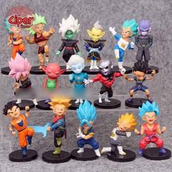 Bộ 16nhân vật Dragon Ball Siêu Cấp - Mô hình Dragon Ball