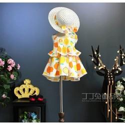 Sét Váy tầng kèm nón bé gái thời trang hè