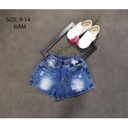Short váy jeans bé gái wash rách sành điệu 22_30kg