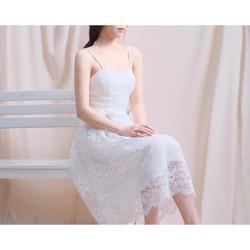 Đầm ren hai dây cực xinh
