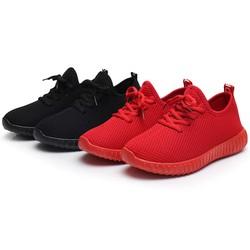 giày thể thao 2 màu đen đỏ