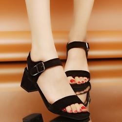 Giày sandal cao gót nữ quai dán thời trang