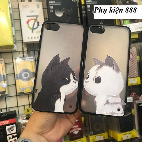 Ốp lưng cứng Iphone 7, 7P mèo Fashion Case