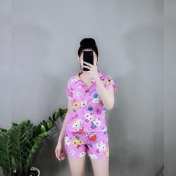 Pijama Thái Mềm Mịn Cao Cấp  kitty hình shop chụp