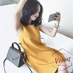 Đầm nữ thời trang đính nơ xinh xắn phong cách Hàn Quốc DA-003