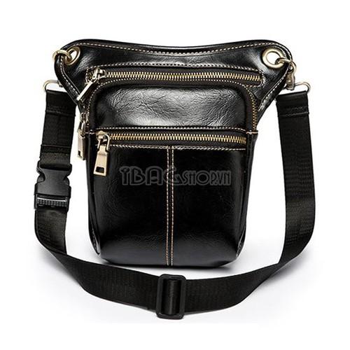 Túi Đeo Chéo Nam – Chất Liệu Da – Màu Đen – Mã DP743