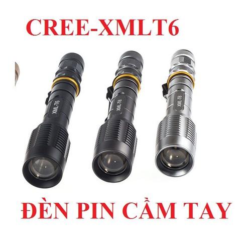 Đèn pin CREE XML-T6 siêu sáng  sử dụng 2 pin 3.7v 4200mAh