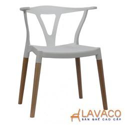 Ghế cafe nhựa PP cao cấp chân gỗ sồi đẹp ở TP. HCM- Mã 230