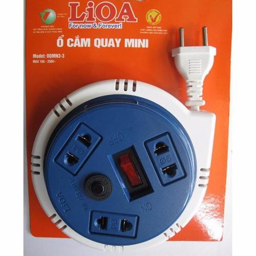 Ổ cắm quay tròn 3 ổ cắm 3 mét Lioa OQMN3-3