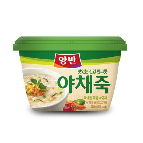 Cháo Ăn Liền Vị Rau Củ Yangban Rice Porridge With Vegetable 287.5g
